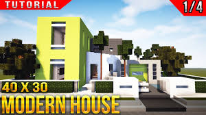 Minecraft House Blueprints Layer By Layer by Minecraft 40x30 Modern House Tutorial Part 1 Of 4 Youtube