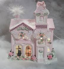 shabby chic christmas village house more of my shabby chic