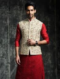 indian wedding dress for groom royal blue color velvet indo western sherwani in gold bottom shop