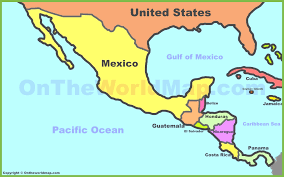 map of mexico and america map of mexico and america all world maps