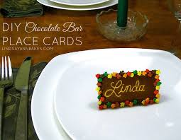 thanksgiving place cards template video diy toothpick engraved chocolate bar thanksgiving place