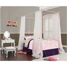 Iron Canopy Bed Frame Powell Canopy Wrought Iron Princess Twin Bed Multiple Colors