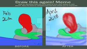 Mermaid Meme - draw this again meme the little mermaid by tokiiu on deviantart