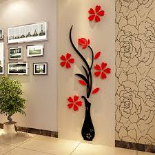 diy home decor wall fashion diy home decor 3d vase flower tree crystal arcylic wall