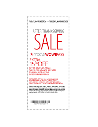 macy s after thanksgiving sale macys friends family coupon