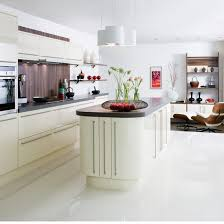 White Kitchen Tile Floor White Kitchen With White Floor Tiles Kitchen And Decor