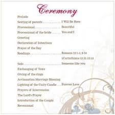 christian wedding ceremony program wedding ceremony outline wedding ceremony outline ceremony
