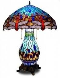 dragonfly tiffany lamp stained glass table lamp open travel