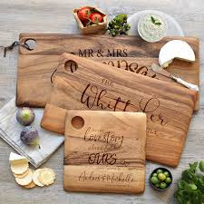 personalised cutting board personalised engraved wooden chopping cheese serving boards wooden