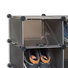 schuhregale kunststoff schuhregal 16paar schuhe systemregal 8boxen kunststoff stecksystem