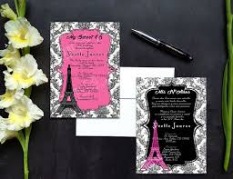 Eiffel Tower Invitations Paris Eiffel Tower Theme Quinceañera Or Sweet Sixteen With