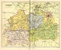 Map Of Kent England by Surrey Genealogy Heraldry And Family History