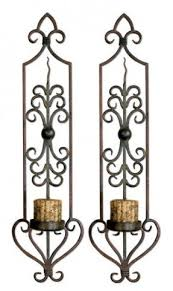 Wall Candle Holders Sconces Wrought Iron Wall Candle Holders Foter
