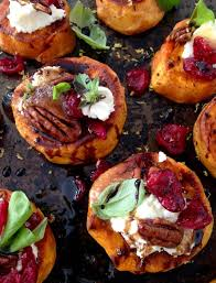sweet potato rounds with goat cheese appetizers ciaoflorentina