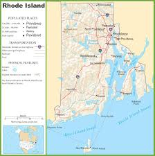 State Capitol Map by Rhode Island Highway Map