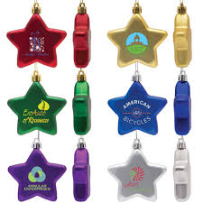 personalized shatter resistant flat star ornaments il1792