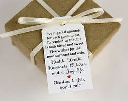 tags for wedding favors wedding favor tags etsy