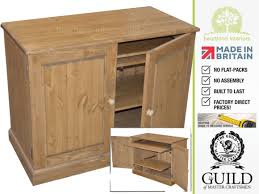 Hideaway Computer Desk Cabinet Large Solid Pine Or Oak Large Traditional 2 Door Hideaway Computer