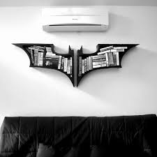 batman shaped bookshelves
