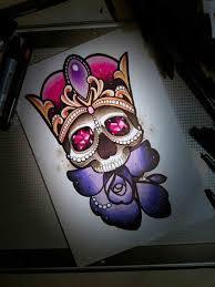 diamond tattoo neo traditional neo neo traditional skull tattoo flash traditional tattoo design
