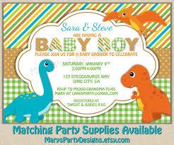 dinosaur baby shower invitation dino boy diaper party invites
