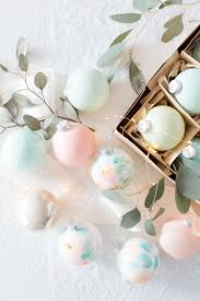 floral pastel painted ornaments