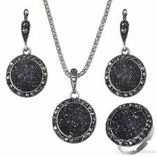 stone necklace sets images 2018 vintage black jewelry set fashion women jewelry set antique jpg