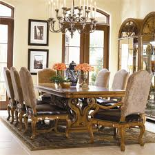 Luxury Glass Dining Table Glass Over Wood Dining Table 12225