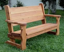 Bench Back Cushion Rustic Wood Bench With Back For Garden Seating Forever Redwood