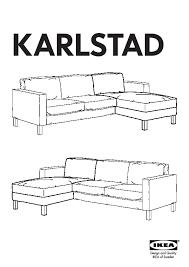 Karlstad Loveseat And Chaise Lounge Karlstad Loveseat And Chaise Lounge Isunda Gray Ikea Canada