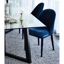 lucille dining chair navy velevt dining chairs seating