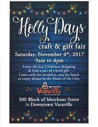 holly days craft u0026 gift fair downtown vacaville