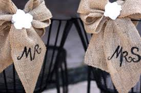 burlap decorations for wedding burlap and lace wedding chair decoration idea