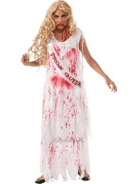 ladies teenage horror bloody zombie prom queen halloween fancy