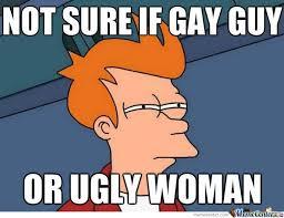 Gay Guy Meme - gay guy or ugly woman by littlelionboy1 meme center