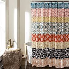 Lush Shower Curtains Lush Decor 16t000209 Bohemian Stripe Shower Curtain