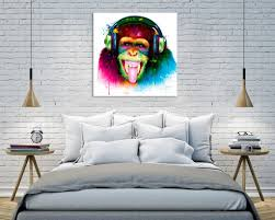 dj monkey by patrice murciano gallery wrapped canvas print wall by patrice murciano