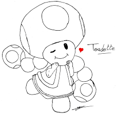 mario toad and toadette coloring pages virtren com