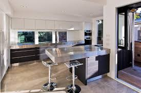 modern kitchen benchtops open contemporary kitchen with stainless steel benchtops and