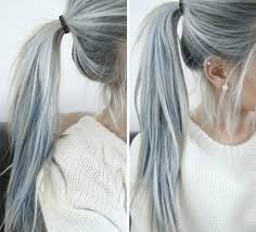 grey hairstyles for young women gray hair dos with ponytail for young females 111 605 latest