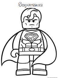 lego superman coloring pages print kidsfree printable