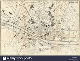 Map Of Florence Italy Florence Firenze Antique Town Plan City Map Italy Bradshaw