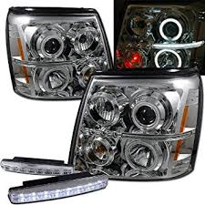 cadillac escalade fog lights amazon com 2003 cadillac escalade ccfl halo projector headlights
