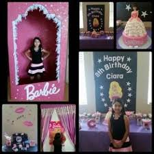 Barbie Photo Booth Pink Royal Barbie Princess First Birthday Party Syntymäpäivä