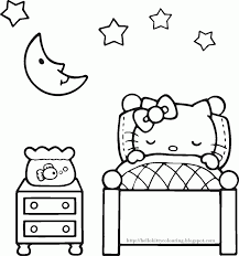kitty coloring pages coloringeast com