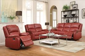 Burgundy Living Room Set by Living Room Incredible Burgundy Leather Reclining Sofa Set For