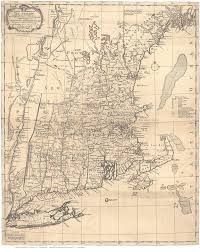 New England Map by 1771 Bowles