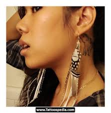 wolf tattoo behind ear tattoo behind ear 08