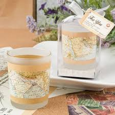 candle wedding favors map candle wedding favors