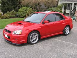 subaru wrx red red subaru wrx with sti front end misc japanese cars i like